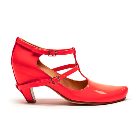 PENNY Neon | Red Patent High Heel | Tracey Neuls