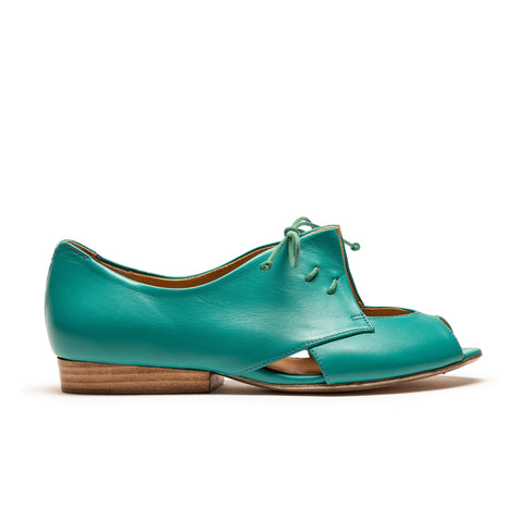 PERRY Aqua | Women's Turquoise Leather Sandal | Tracey Neuls