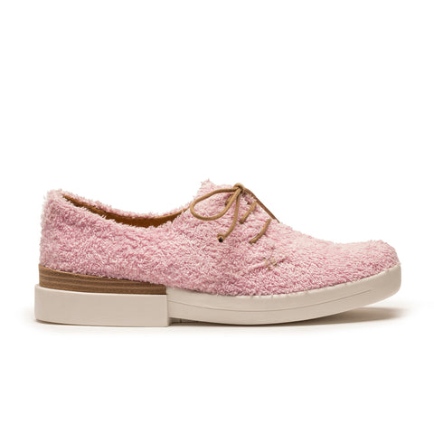 pink terry derby sneaker by designer tracey neuls