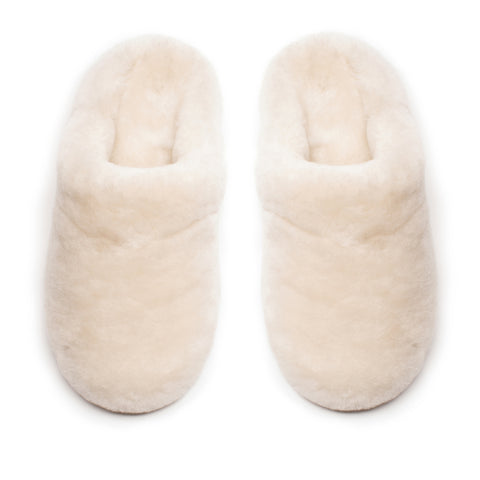 SLIPPERS Women's Sheep Shearling Milk White Slipper Tracey Neuls