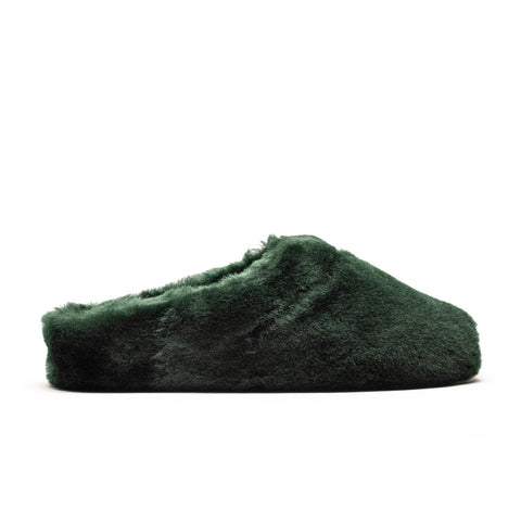 SLIPPERS Women's Sheep Shearling Dark Petrol Slipper | Tracey Neuls