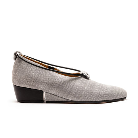 SPACE Crosshatch | Printed Leather Slip On