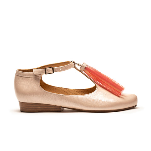 TASSEL Spritz | Women's Pink Patent Leather T-bar Shoe | Tracey Neuls
