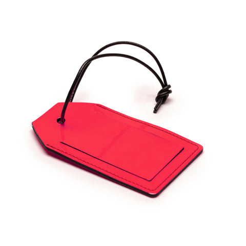 LUGGAGE TAG | Neon Patent Leather
