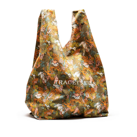 SHOPPER Tropical | Wool Blend Shopper Bag