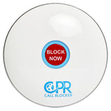 CPR Call Blocker Shield - Gloss White - Front View