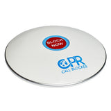 CPR Call Blocker Shield - Gloss White - Side View