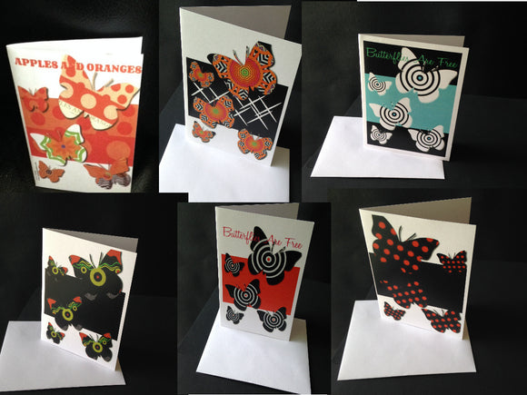 The Butterfly Series of Handmade Note/Art Cards from www.andreaandme.com