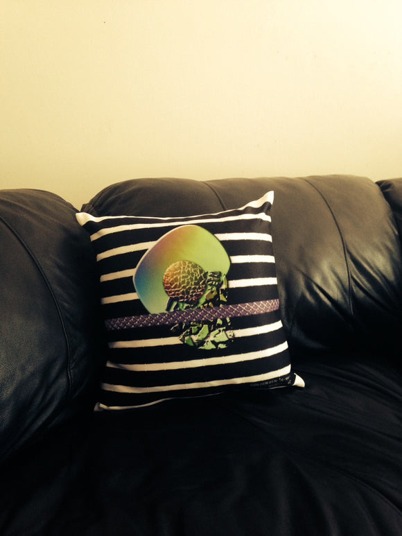 Black and white throw pillow from The Pretty Pillows Collection www.andreaandme.com