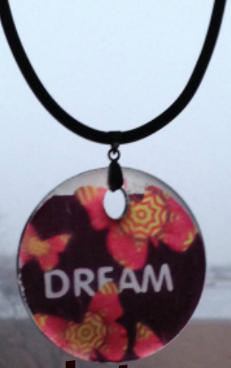 Dream acrylic pendant necklace from www.andreaandme.com