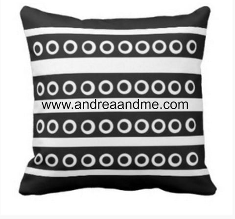 Black and white abstract throw pillow www.andreaandme.com