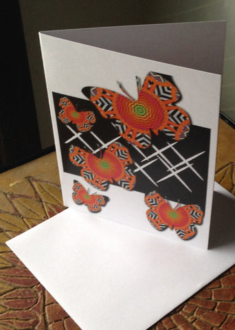 Butterfly Card Orange and Black www.andreaandme.com
