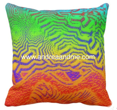 Throw Pillow Multicolor Animal Print www.andreaandme.com