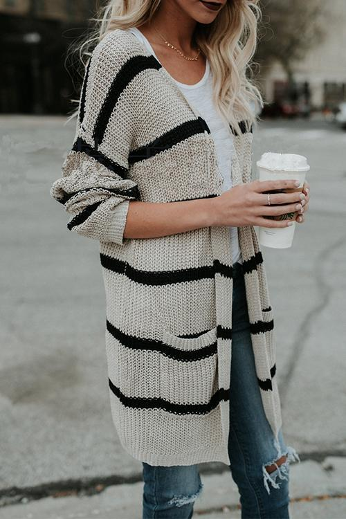Striped Personality Cardigan