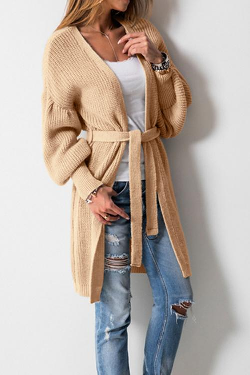 Casual Long Sleeve Knit Cardigan
