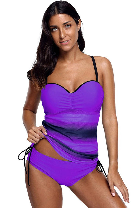 TIE DYE PUSH UP UNDERWIRE TANKINI - TWO PIECE SWIMSUIT
