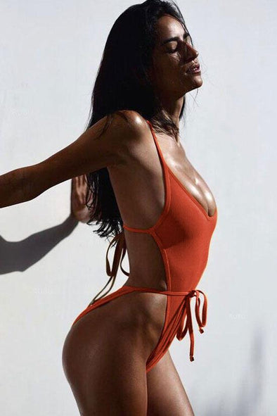 6ca8cc1009bf9 SEXY HIGH LEG LOW BACK STRAPPY MONOKINI ONE PIECE SWIMSUIT