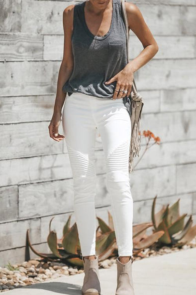 Crumpled High Waist Hip Jeans