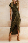 Casual Fashion Belt Long Dress