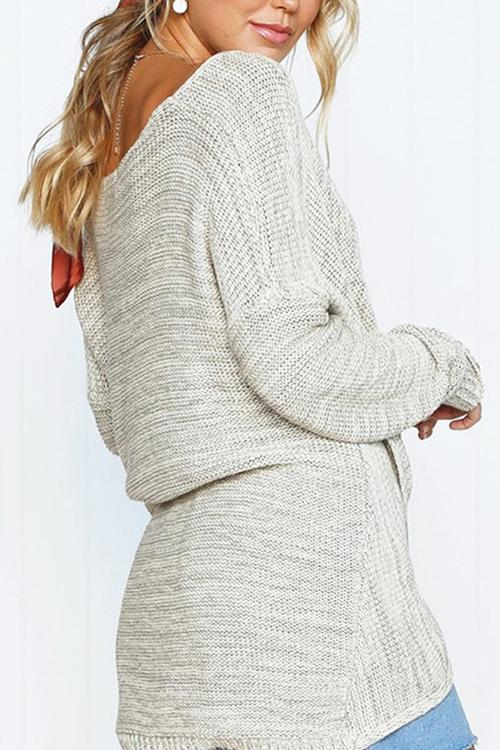 Lrregular Stitching Design Sweater