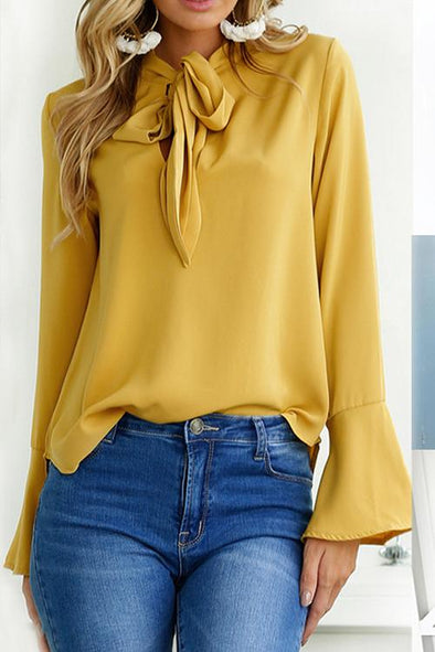 Fashion Trend Tie Knotted Bottoming Shirt
