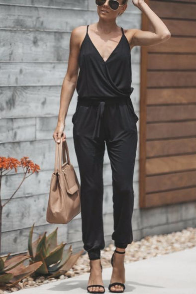 Shape Of You V Neck One-piece Jumpsuits