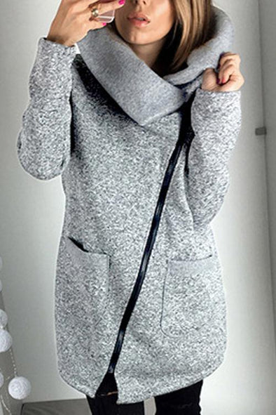 Casual Side Zip Coat Jacket Coat