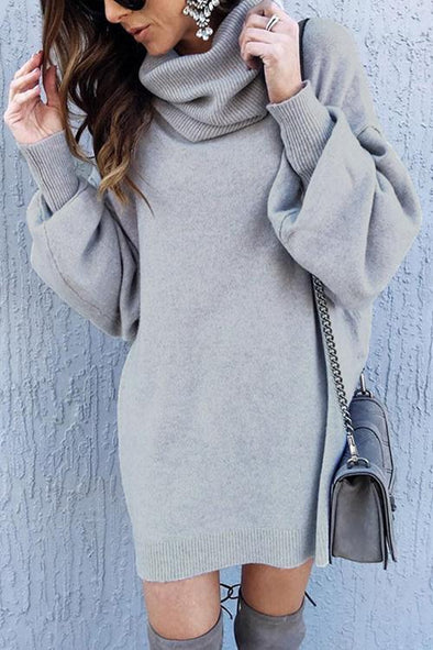 Casual High Neck Knit Sweater