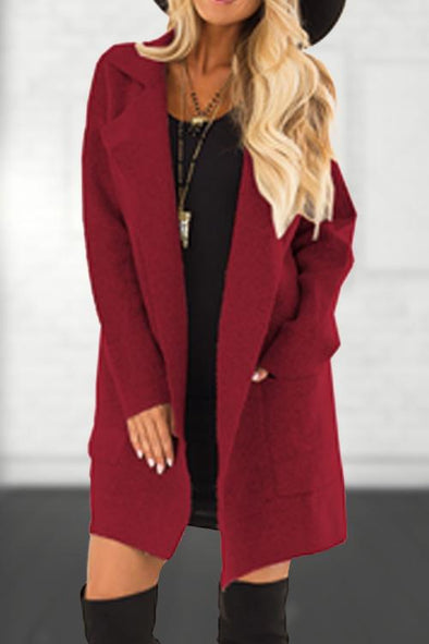 Casual Pocket Woolen Coat