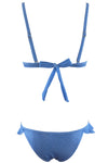 E&C Blue Denim Ruffle trim Sexy Triangle Bikini