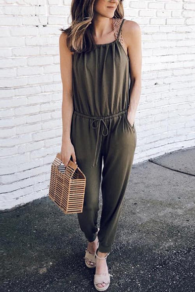 To  You Drawstring  One-piece Jumpsuit