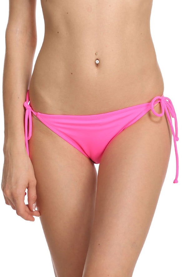 SOLID TIE SIDE STRING BRAZILIAN BIKINI BOTTOM
