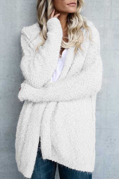 Women's Plush Cardigan Coat