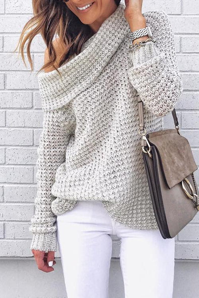 Unique Casual Openwork Sweater