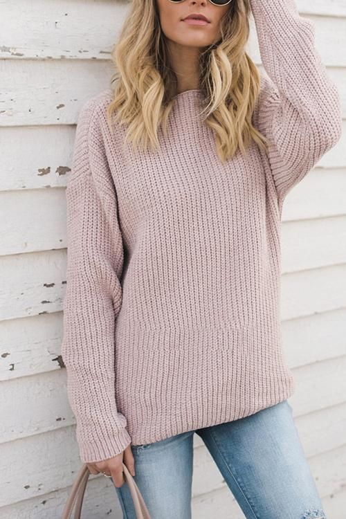 New Loose Large Size Two-sided Stitching Sweater