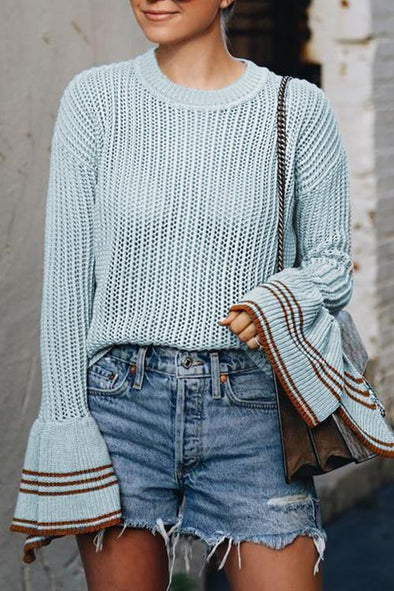 Vogue Trumpet Sleeves Sweater