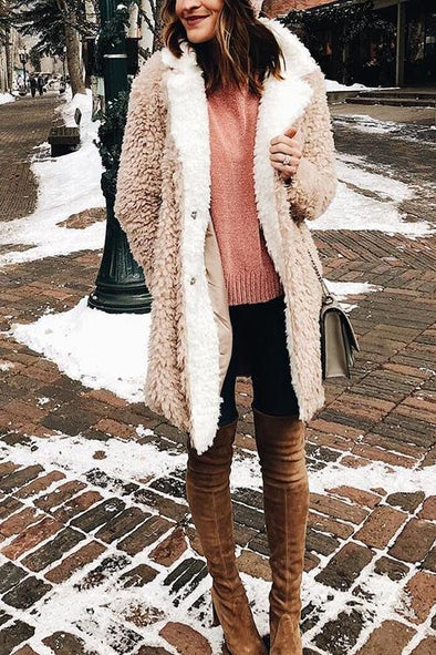 Casual Lazy Warm Lamb Coat