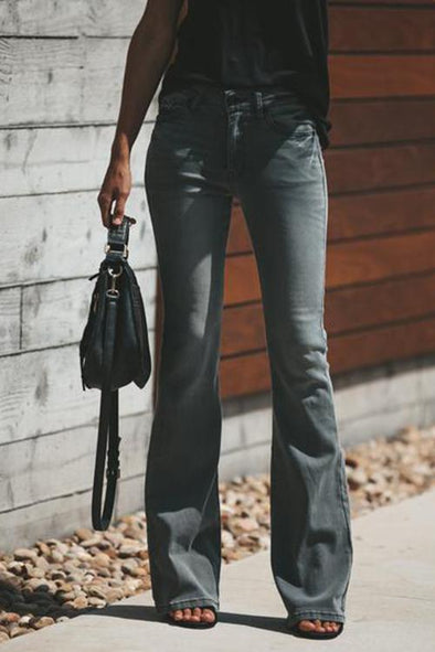 Casual Slim Flared Jeans