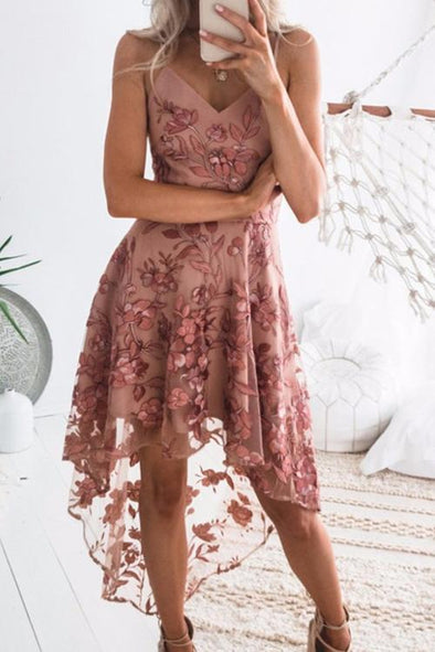 Sexy Lace Patchwork Mid Calf Dress
