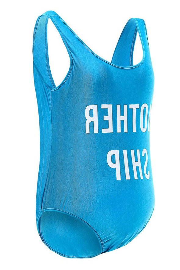 MOTHER SHIP - Slogan Maternity One Piece Swimsuit