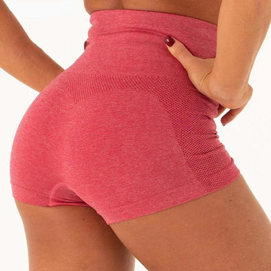 Fitness workout shorts - Sunshine - High waist - Seamless