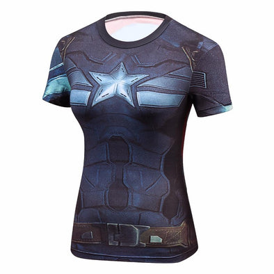 Fitness compression T-shirt - Captain America