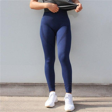 Workout seamless leggings - Obsession blue - High waisted