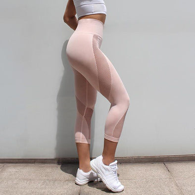 Fitness high waisted leggings - Karma pink - Squat proof