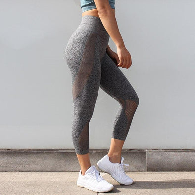 Fitness high waisted leggings - Karma grey - Squat proof