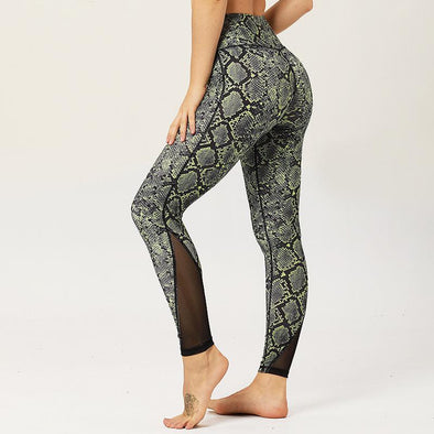 Workout leggings - Snake skin - Squat proof - High waist