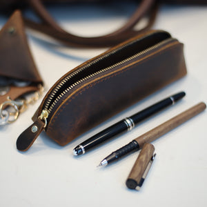 Corby Leather Pencil Case