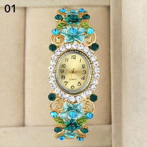 Vintage Timepiece Collectible With Austrian Crystals