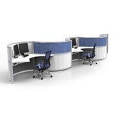 Mana Round Work Desk 4 Pack