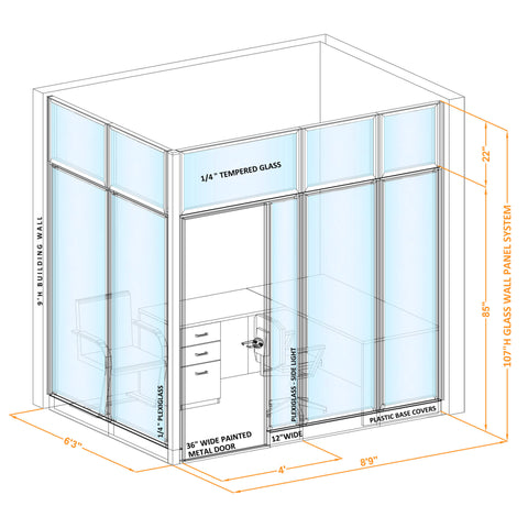 Glass Wall For Office L9